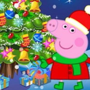Peppa Pig Christmas.Peppa Pig Christmas Tree Deco Play Peppa Pig Christmas