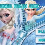 Frozen Math Quiz