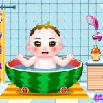 Happy Baby Bathing Time